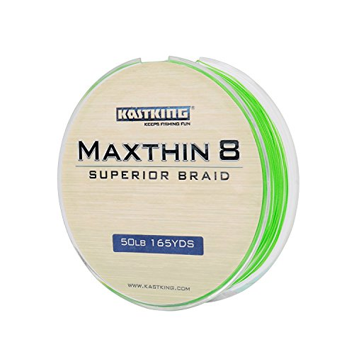 Maxthin8 braided fishing line from 16 lb to 60 lb test has a smaller profile resulting