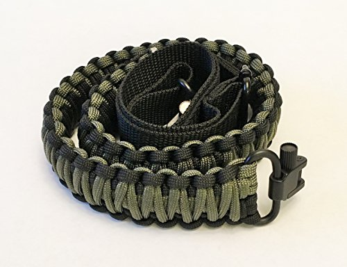 Paracord 550 Rifle Crossbow Gun Sling Strap Belt Tactical Adjustable Swivels